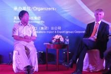 Angus Phillips with Xiao Dongfa of Peking University