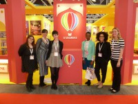 Six MA Students at the Usborne Stand