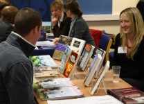Simone Drinkwater, from Casemate, meets with a publishing student
