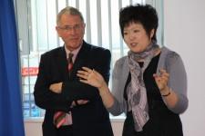 Adrian Bullock with Professor Sun Henan, Beijing Institute of Graphic Communication