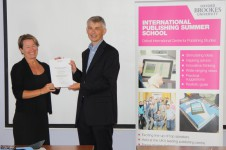 Georgina Hickey receiving her award