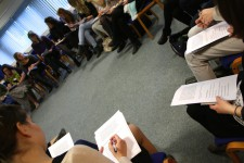 Students engage with a workshop session