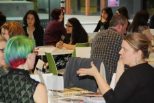 A speed dating session in the new Terrace room