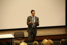 The keynote speaker, David Shelley, the forthcoming CEO of Little, Brown