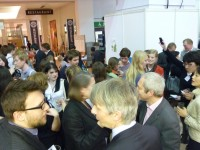 Alumni Group Launch Party at the Book fair stand