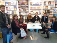 Meeting with Michaela Goff on the Casemate Stand