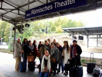 Returning from the Gutenberg Museum at Mainz
