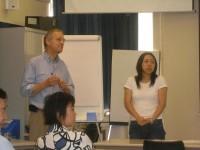 David Attwooll, Liang Ling (Lilly) and Tong Chang at David's E-publishing seminar