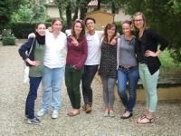 MA Publishing Students: Adrienn, Georgina, Imogen, Kat, Leonie, Jaimie and Katie