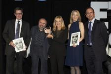 Twiggy receiving award