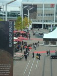 View Into the Outside Area at the Messe