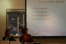 Julia Golding and Sheila Lambie
