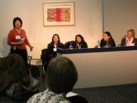 Sheila Lambie chairing the Seminar on Children's Publishing