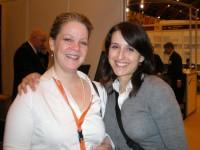 Jane Potter and Eva Papastratis an MA Publishing graduate