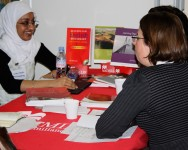 The Macmillan desk at the speed dating event for publishing